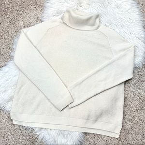 Theory Cashmere Cream Turtleneck Sweater